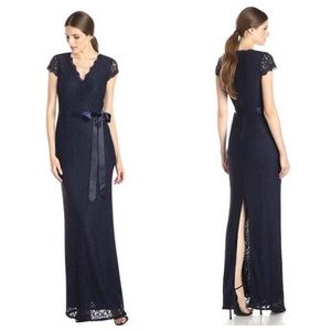 Adrianna Appel cap sleeve maxi dress